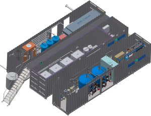 Containeranlage zur Fracking-Abwasser-Behandlung